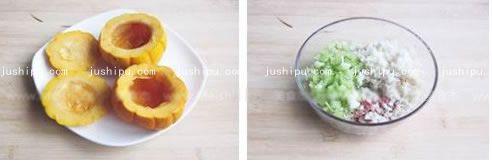 金瓜酿肉的做法 jushipu.com