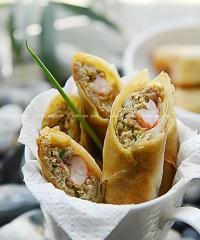 猪肉虾卷的做法