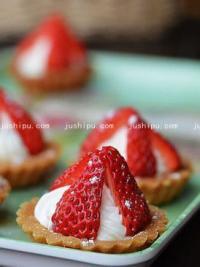 草莓奶油塔的做法