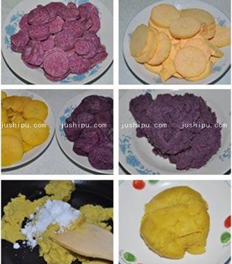 双薯糯米团的做法 jushipu.com