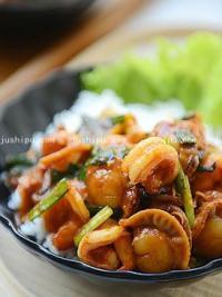 韩式海鲜拌饭的做法