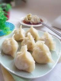 白菜香干素蒸饺的做法