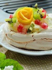 奶油水果蛋白饼的做法