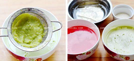 西瓜青提果冻杯的做法 jushipu.com