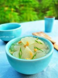 金钩竹荪冬瓜汤的做法