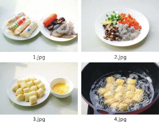 三鲜浇汁玉子豆腐的做法 jushipu.com