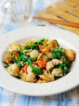 韭菜炒鲜贝的做法