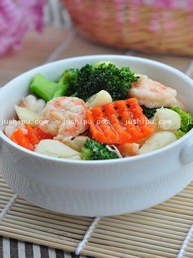 家常菜 虾仁炒西兰花的做法