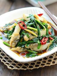 韭菜炒海蚬的做法
