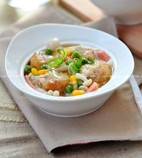家常菜油豆腐塞肉的做法