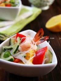家常菜 橙虾沙拉的做法