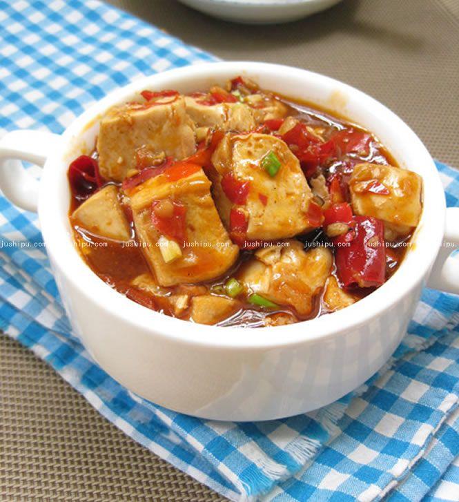简版麻婆豆腐的做法 jushipu.com
