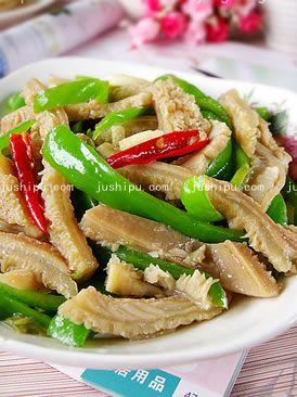 家常菜 青椒炒牛肚的做法