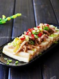家常菜 榨菜肉丝炒年糕的做法