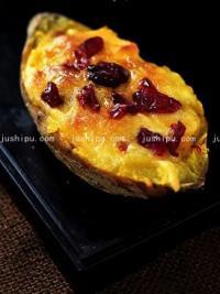蔓越莓奶酪焗红薯的做法
