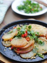 家常菜铁板孜然土豆片的做法