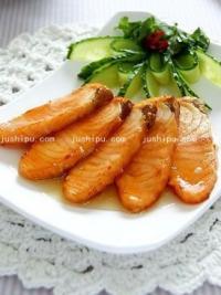 美食天下柠香蜜汁三文鱼的做法