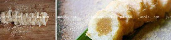 糯米莲蓉卷的做法 jushipu.com
