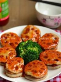 家常菜 香煎泰式甜辣藕饼的做法