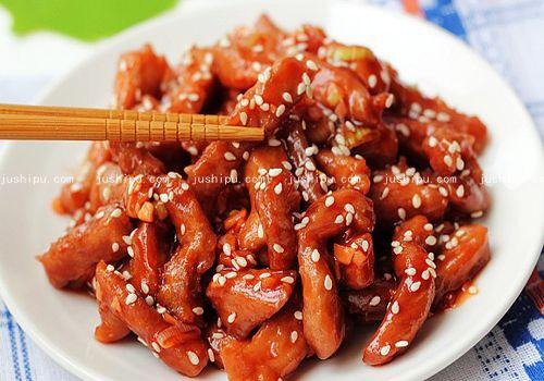糖醋焦嫩肉段的做法 jushipu.com