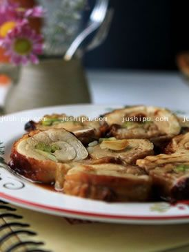 蒜苔鸡肉卷的做法