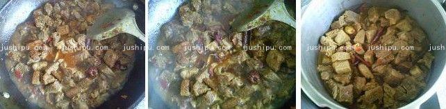 香辣牛腩煲的做法 jushipu.com