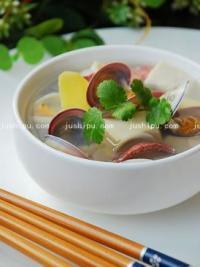 白蛤豆腐汤的做法