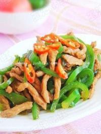 家常菜 青椒炒肉丝的做法