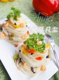 虾仁紫菜拌面的做法