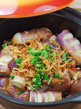 营养家常菜 蚝油鱼干焖茄子的做法