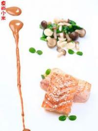 芝麻锦香三文鱼的做法