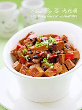 家常菜 豆鼓烧香干的做法