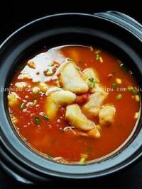茄汁菱角汤的做法