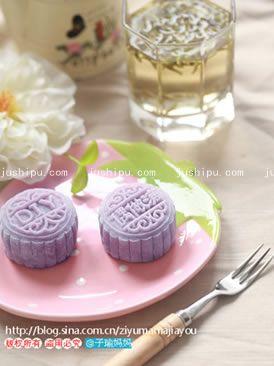 紫薯桂花山药冰皮月饼的做法