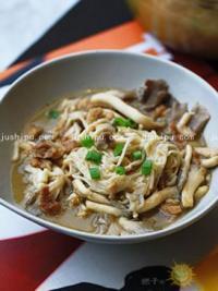 肉丝炒双菇的做法
