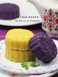 紫薯豆沙月饼的做法