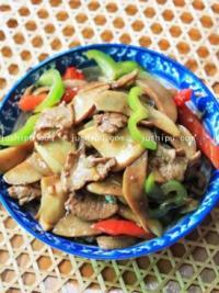 家常菜 杏鲍菇炒肉片的做法