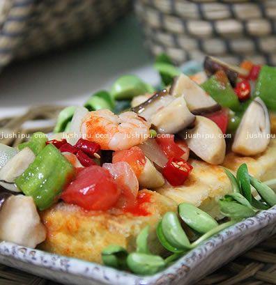 海鲜金砖豆腐的做法 jushipu.com