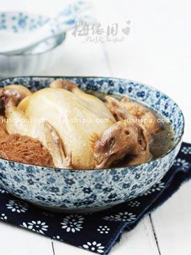 家常菜黑茶炖土鸡的做法
