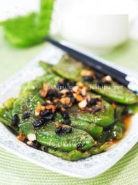 豆豉虎皮青椒的做法