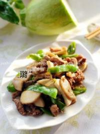美食天下青椒杏鲍菇炒肉丝的做法