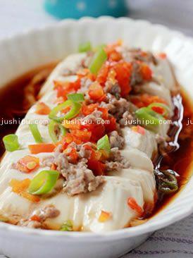 家常菜 肉末蒸豆腐的做法