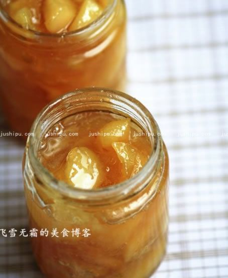 桃子果酱的做法 jushipu.com