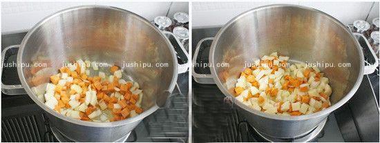 时蔬咖喱鸡的做法 jushipu.com