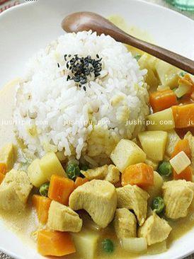 时蔬咖喱鸡的做法
