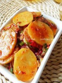 红油土豆片的做法