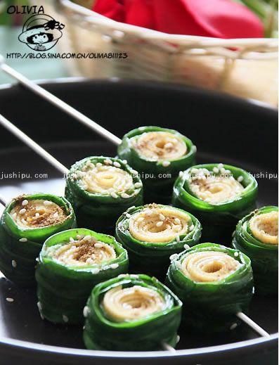 烤春盘的做法 jushipu.com