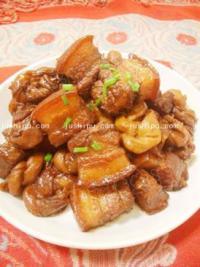 家常菜 百叶结烧肉的做法