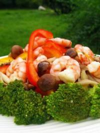 宴客菜 鲜菇虾仁西兰花的做法