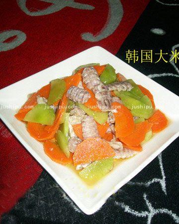 双笋琵琶虾肉肉的做法 jushipu.com
